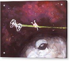 Star Wars Dog Fight Acrylic Print by Paul Mitchell