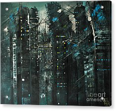 City Of Fools Acrylic Print by Maja Sokolowska
