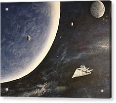 Star Wars Mural Acrylic Print by Dan Wagner