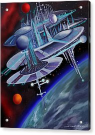 Starbase I - Alisona  Acrylic Print by James Christopher Hill