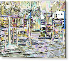 Acrylic Print featuring the digital art Starbucks After Hours by Mark Greenberg