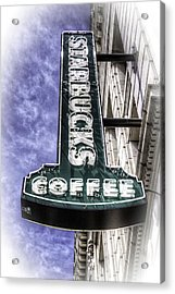 Starbucks - Ballard Acrylic Print by Spencer McDonald