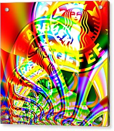 Starbucks Coffee In Abstract 20140704 Square V2 Acrylic Print