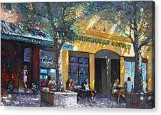 Starbucks Hangout Nyack Ny Acrylic Print