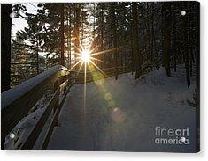 Starburst Sun Shine - Franconia Notch State Park New Hampshire  Acrylic Print by Erin Paul Donovan