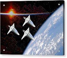 Starfighters Acrylic Print by Piero Lucia