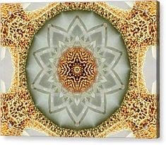 Starfish Crystal Mandala Acrylic Print