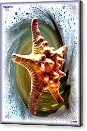 Acrylic Print featuring the digital art Starfish by Daniel Janda
