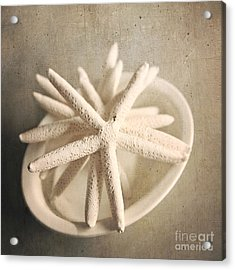 Acrylic Print featuring the photograph Starfish In A Bowl by Sylvia Cook