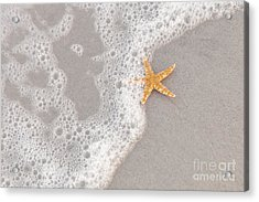 Starfish In The Surf Acrylic Print