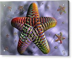 Acrylic Print featuring the digital art Starfish by Manny Lorenzo
