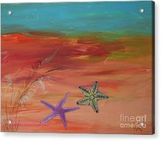 Starfish Acrylic Print by PainterArtist FIN