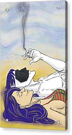 Staring At The Clouds 1 Acrylic Print by Oni Kerrtu