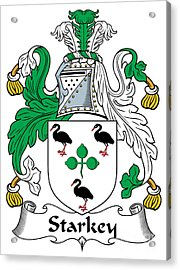 Starkey Coat Of Arms Irish Acrylic Print by Heraldry