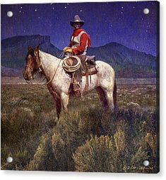 Starlight Cowboy Durango Acrylic Print by R christopher Vest