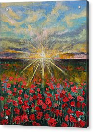 Starlight Poppies Acrylic Print by Michael Creese