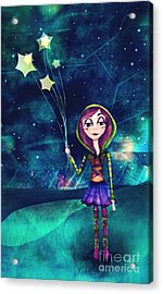 Starloons Acrylic Print by Kristin Hodges