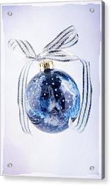 Christmas Ornament With Stars Acrylic Print by Vizual Studio