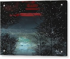 Starry Night Acrylic Print by Anil Nene