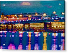 Starry Night At Nationals Park Acrylic Print
