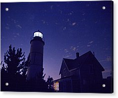 Starry Night At Sandy Neck Lighthouse Acrylic Print by Charles Harden