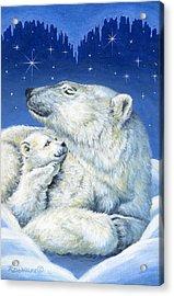 Starry Night Bears Acrylic Print by Richard De Wolfe