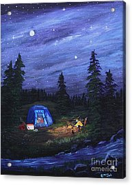 Starry Night Campers Delight Acrylic Print