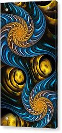 Starry Night - Fractal Art Acrylic Print by Anastasiya Malakhova