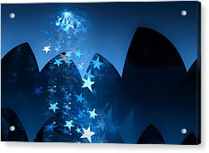 Acrylic Print featuring the digital art Starry Night by GJ Blackman