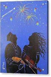 Starry Night Acrylic Print by Gloria E Barreto-Rodriguez