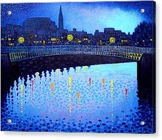 Starry Night In Dublin Vi Acrylic Print by John  Nolan