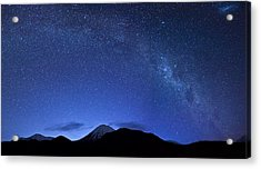 Starry Night Over Mount Ngauruhoe Acrylic Print