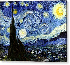 Starry Night Reproduction Art Work Acrylic Print