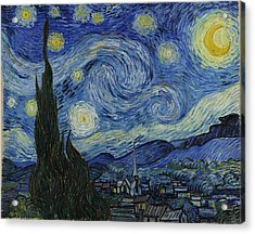 Starry Night Acrylic Print by Masterpieces Of Art Gallery