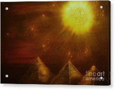 Starry Pyramid Night-original Sold-buy Giclee Print Nr 34 Of Limited Edition Of 40 Prints  Acrylic Print