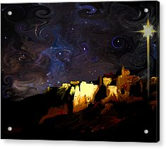 Starry Starry Bethlehem Night Acrylic Print by Ron Cantrell