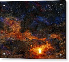 Starry Sunset Acrylic Print by Bruce Rolff