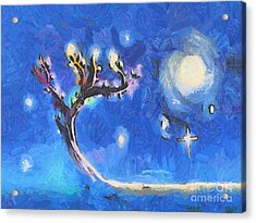 Starry Tree Acrylic Print