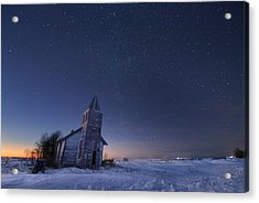 Starry Winter Night Acrylic Print