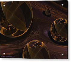 Acrylic Print featuring the digital art Starry Worlds by Linda Whiteside