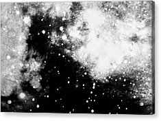 Stars And Cloud-like Forms In A Night Sky Acrylic Print