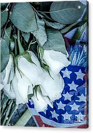 Stars And Roses Forever Acrylic Print by Susan Cole Kelly Impressions