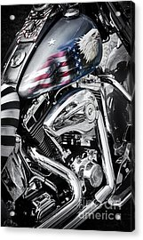 Stars And Stripes Harley  Acrylic Print