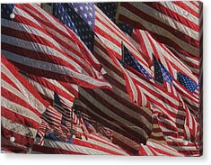 Stars And Stripes - Remembering Acrylic Print by Jack Zulli