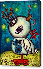 Stars And Worms Acrylic Print by Melissa Bee