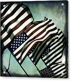 Stars N  Stripes Acrylic Print by Trish Mistric