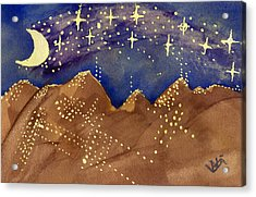 Stars Of Heaven And Earth Acrylic Print