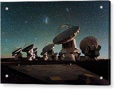 Stars Over Alma Acrylic Print by Eso/c. Malin