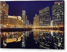 Stars Over Chicago Acrylic Print by Nicholas Johnson
