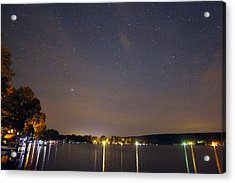 Stars Over Conesus Acrylic Print by Richard Engelbrecht